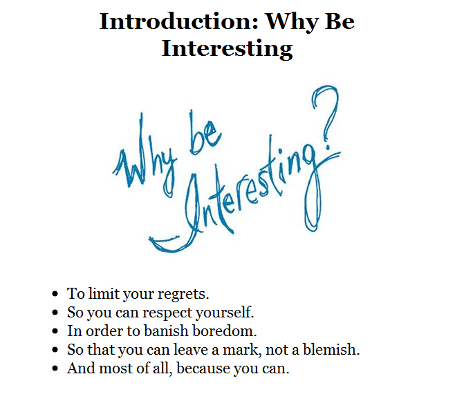 why_be_interesting